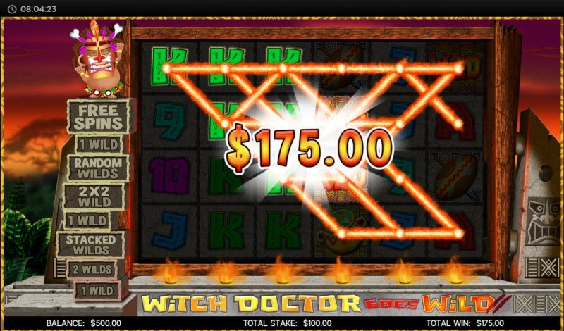 Witch Doctor Goes Wild :: Multiple winning paylines