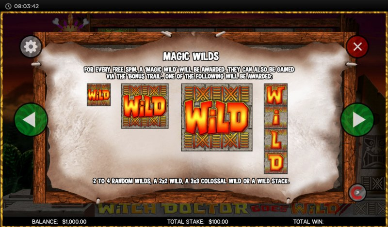 Witch Doctor Goes Wild :: Wild Symbols Rules