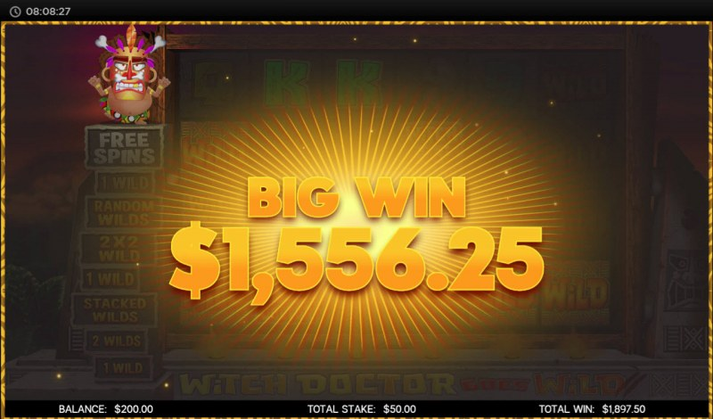 Witch Doctor Goes Wild :: Big Win