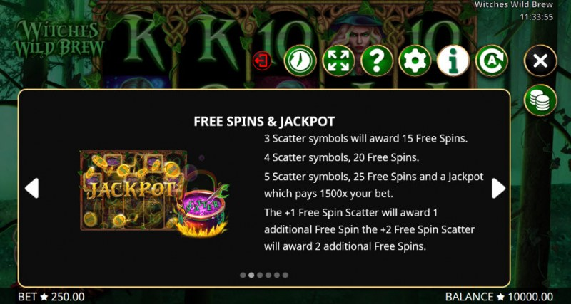 Witches Wild Brew :: Free Spins Rules