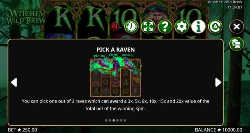 Witches Wild Brew :: Bonus Game Rules