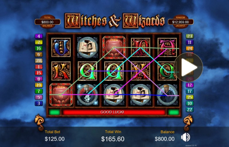 Witches & Wizards :: Multiple winning paylines