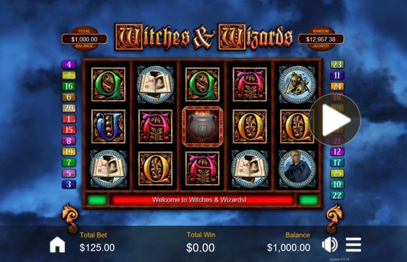 Play slots at Slots.com: Slots.com featuring the Video Slots Witches & Wizards with a maximum payout of $200,000