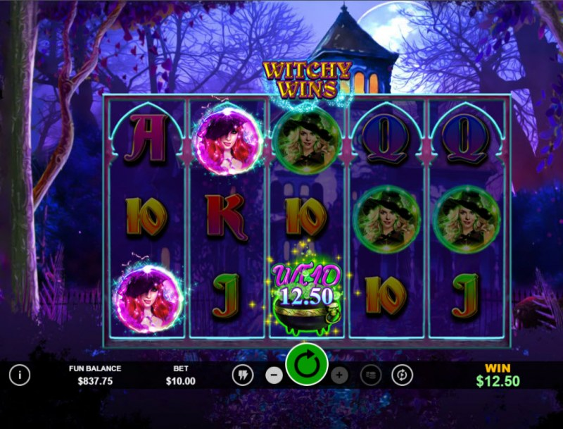 Witchy Wins :: A three of a kind win
