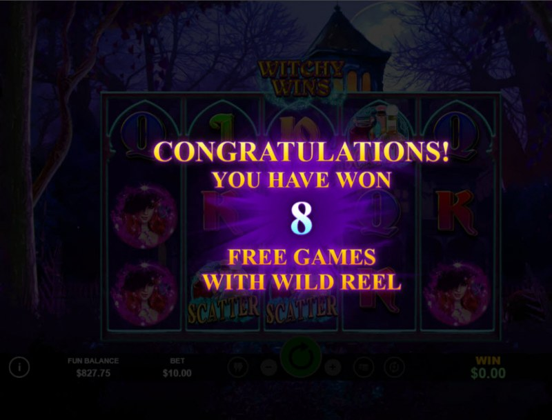 Witchy Wins :: 8 free spins awarded