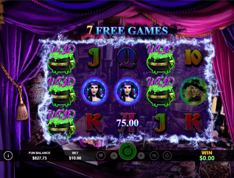 Witchy Wins :: Free Spins Game Board