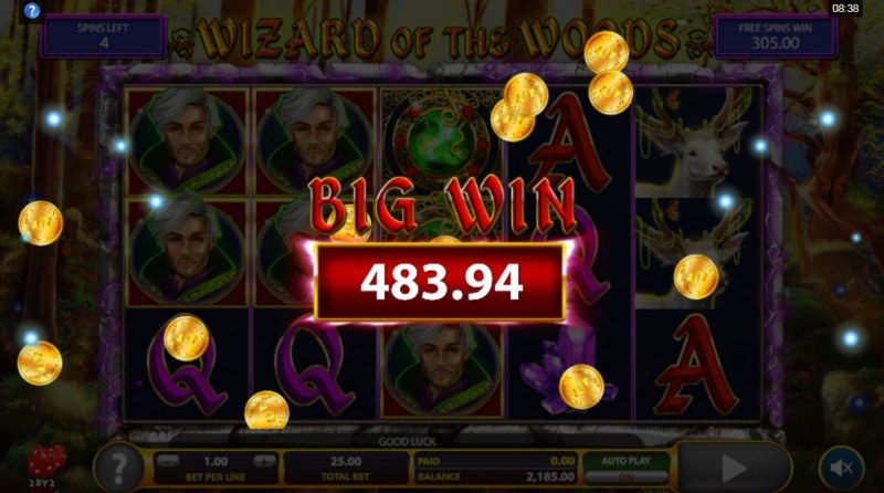 Wizard of the Woods :: Big Win