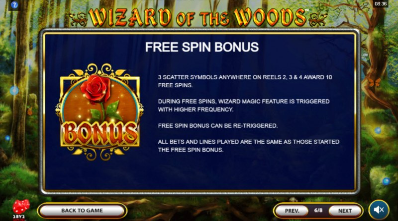 Wizard of the Woods :: Free Spin Feature Rules