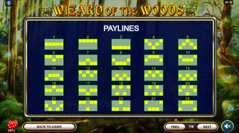 Wizard of the Woods :: Paylines 1-25