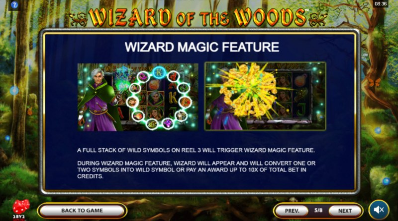 Wizard of the Woods :: Wizard Magic Feature