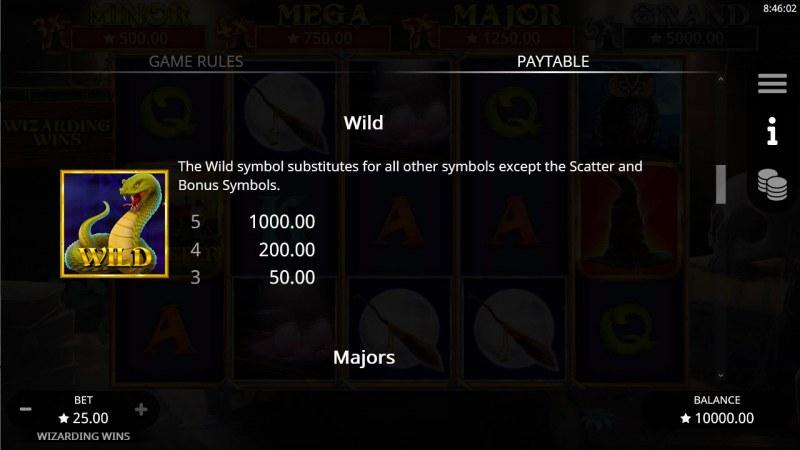 Wizarding Wins :: Wild Symbol Rules