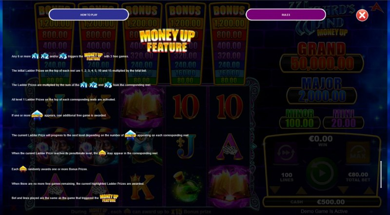 Wizard's Wand Money Up :: Feature Rules