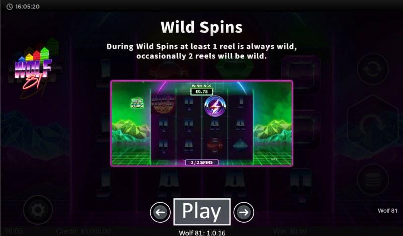 Wolf 81 :: Wild Spins