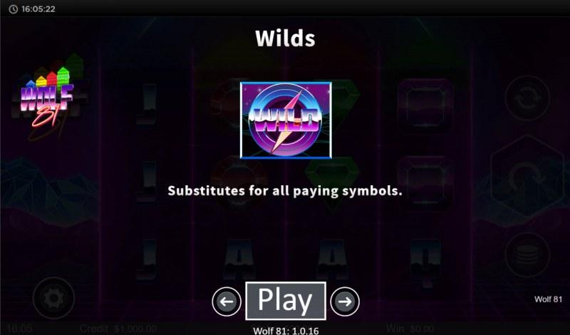 Wolf 81 :: Wild Symbol Rules