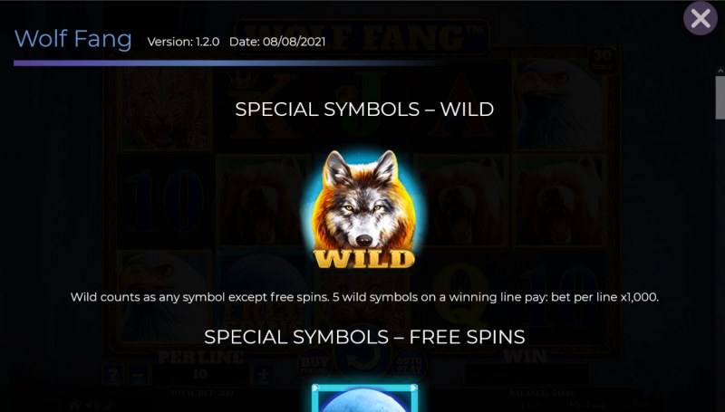 Wolf Fang :: Wild Symbol Rules