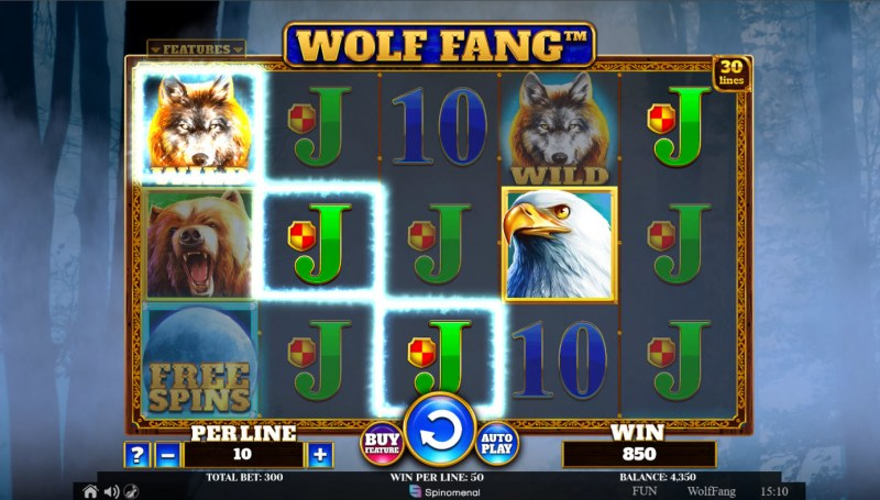 Wolf Fang :: A four of a kind win