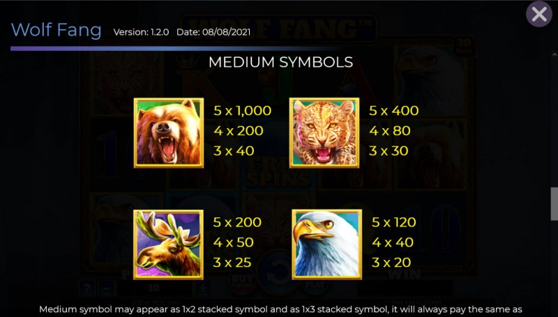 Wolf Fang :: Paytable - High Value Symbols