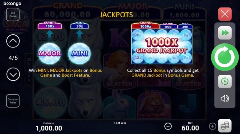 Wolf Saga Hold and Win :: Jackpot Rules
