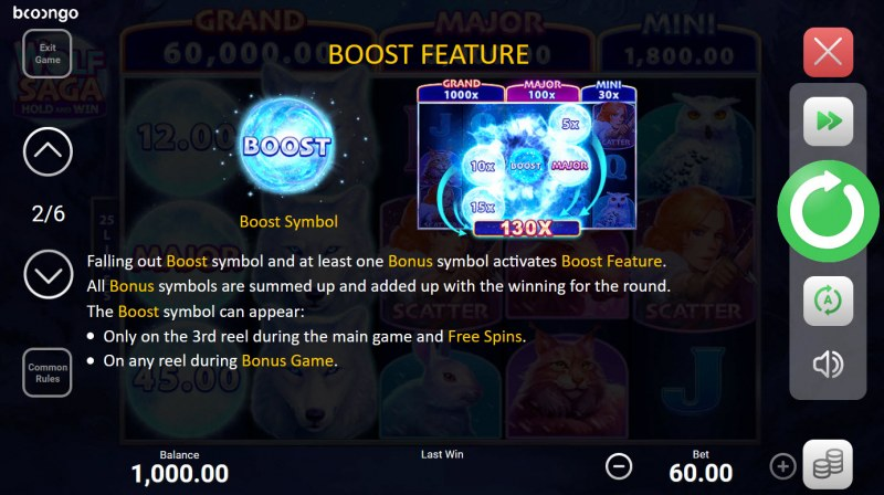 Wolf Saga Hold and Win :: Boost Feature
