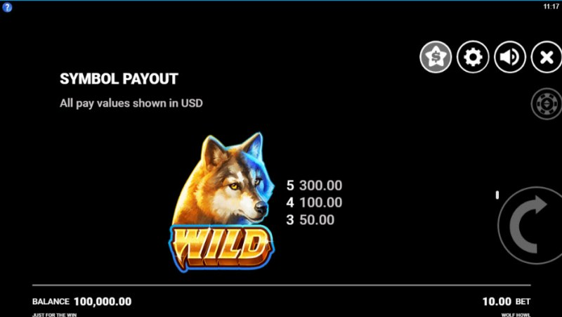 Wolf Howl :: Wild Symbols Rules