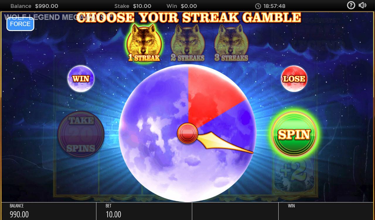Wolf Legend Megaways :: Gamble Feature Gameboard