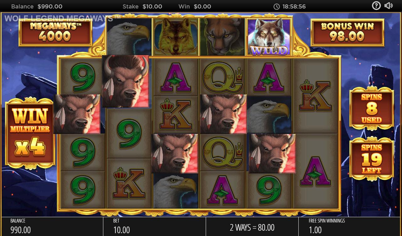Wolf Legend Megaways :: Multiple winning combinations