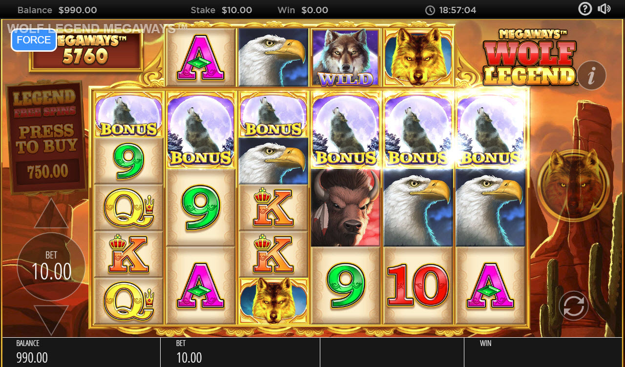Wolf Legend Megaways :: Scatter symbols triggers the free spins feature
