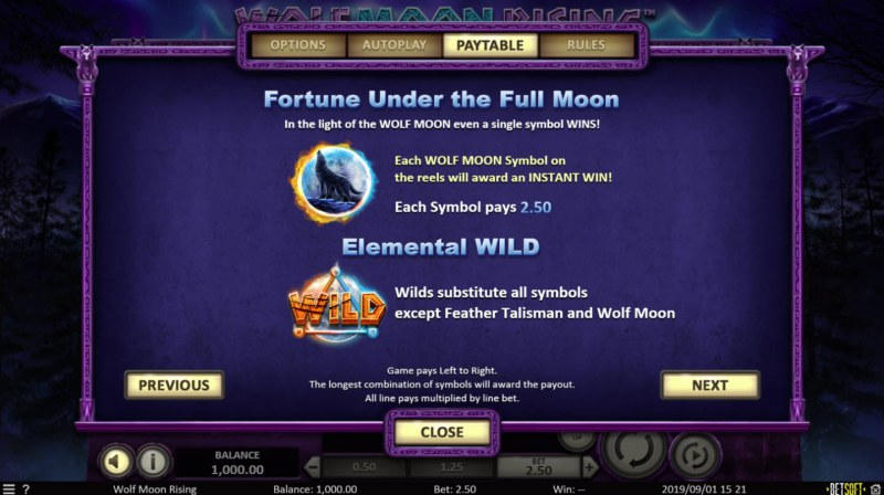 Wolf Moon Rising :: Bonus and Wild Rules
