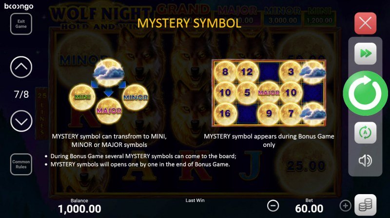 Wolf Night Hold and Win :: Mystery Symbol