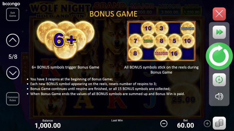 Wolf Night Hold and Win :: Bonus Game