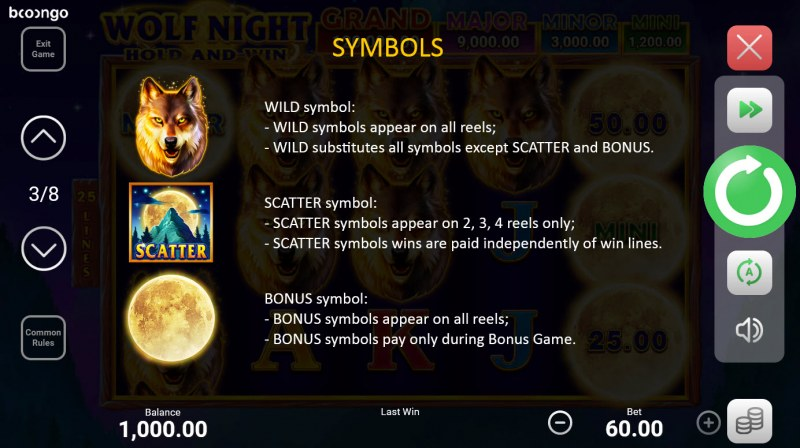 Wolf Night Hold and Win :: Wild and Scatter Rules