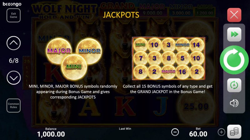 Wolf Night Hold and Win :: Jackpot Rules