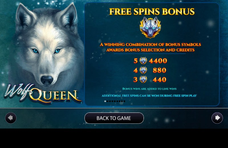 Wolf Queen :: Free Spins Rules