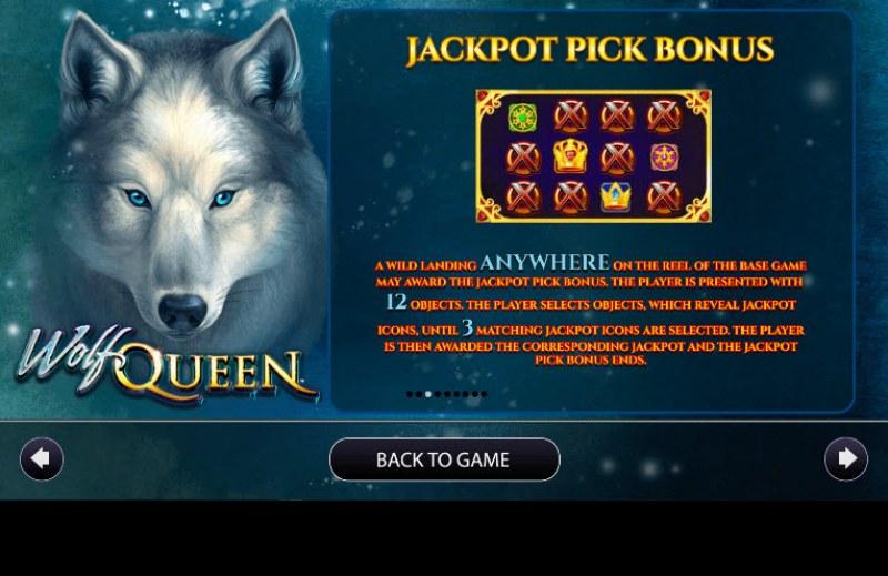 Wolf Queen :: Jackpot Rules