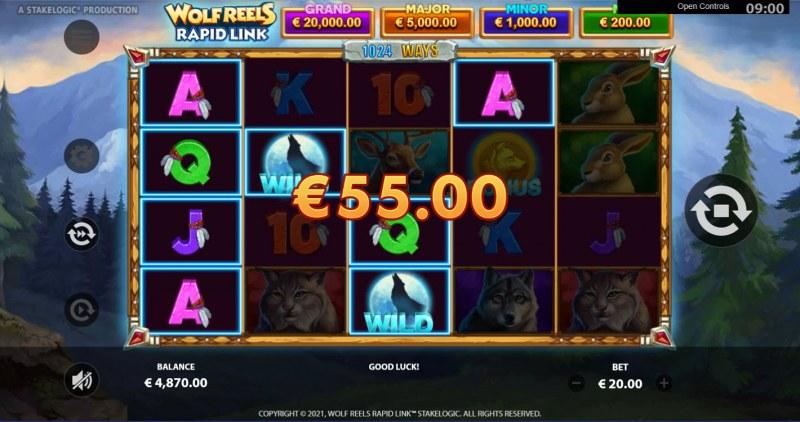 Wolf Reels Rapid Link :: Multiple winning combinations
