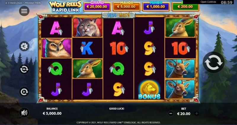 Wolf Reels Rapid Link :: Base Game Screen