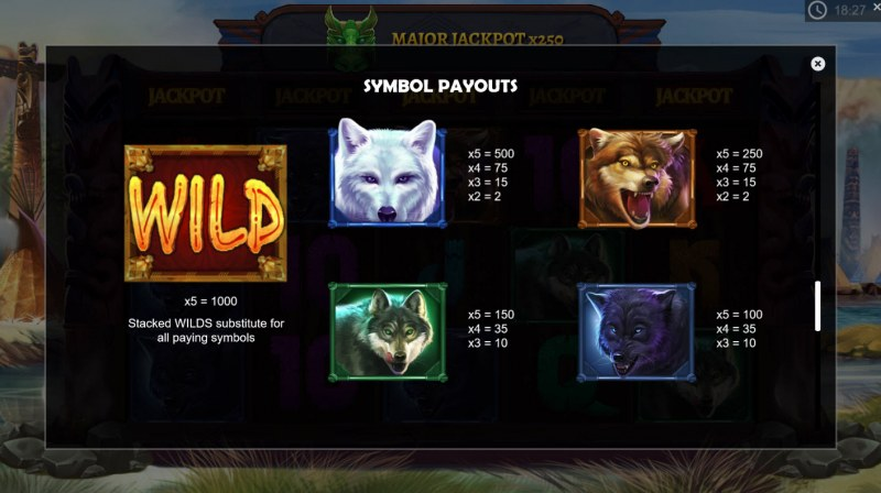 Wolf Riches :: Paytable - High Value Symbols