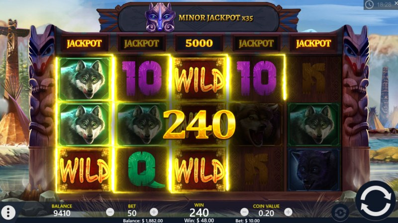 Wolf Riches :: Multiple winning paylines