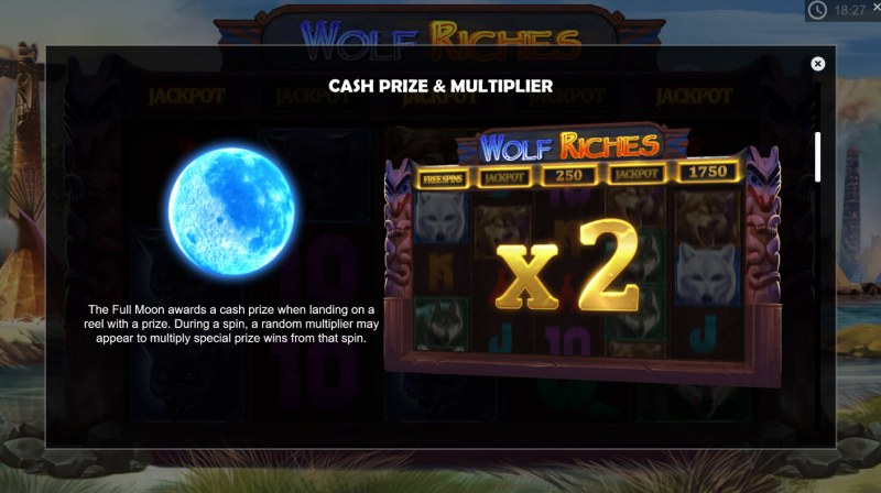Wolf Riches :: Cash Prize and Multipliers