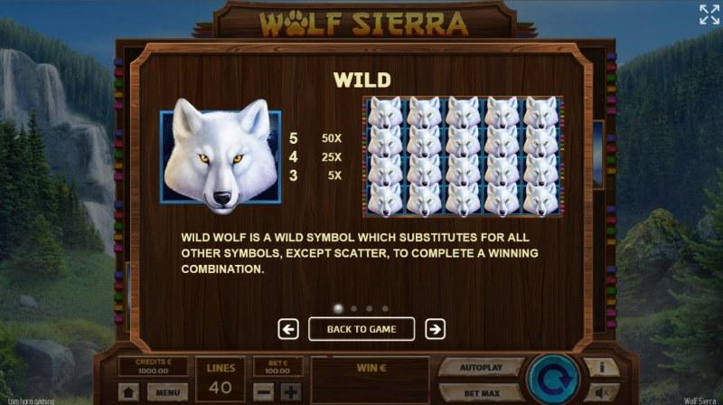 Wolf Sierra :: Wild Symbol Rules