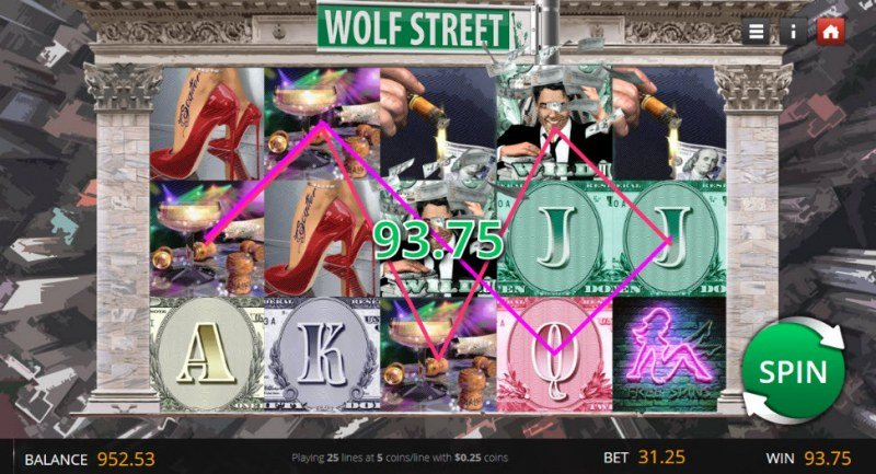 Wolf Street :: Multiple winning paylines