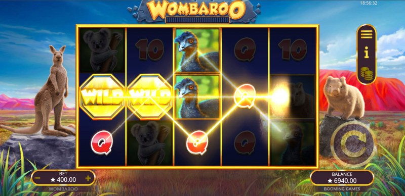 Wombaroo Hold and Re-Spin :: Multiple winning paylines