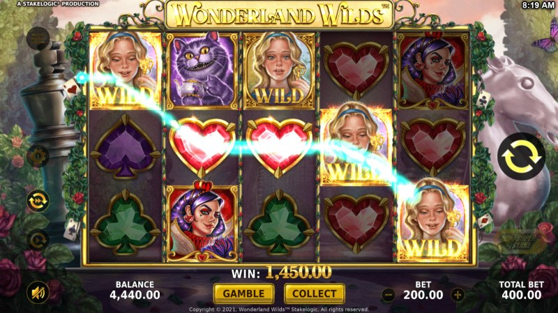 Wonderland Wilds :: A five of a kind win