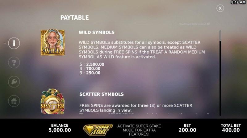 Wonderland Wilds :: Wild Symbol Rules
