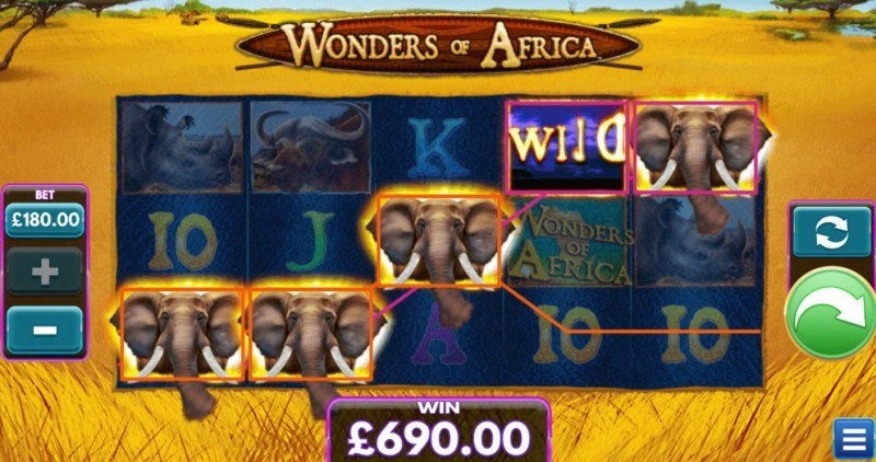 Wonders of Africa :: A five of a kind win