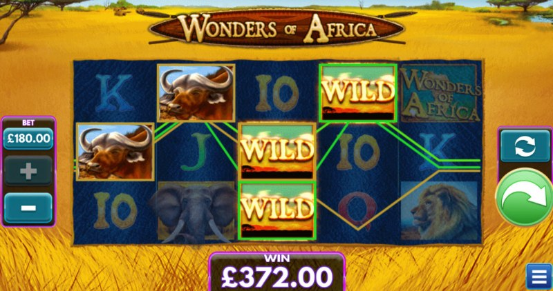 Wonders of Africa :: A four of a kind win