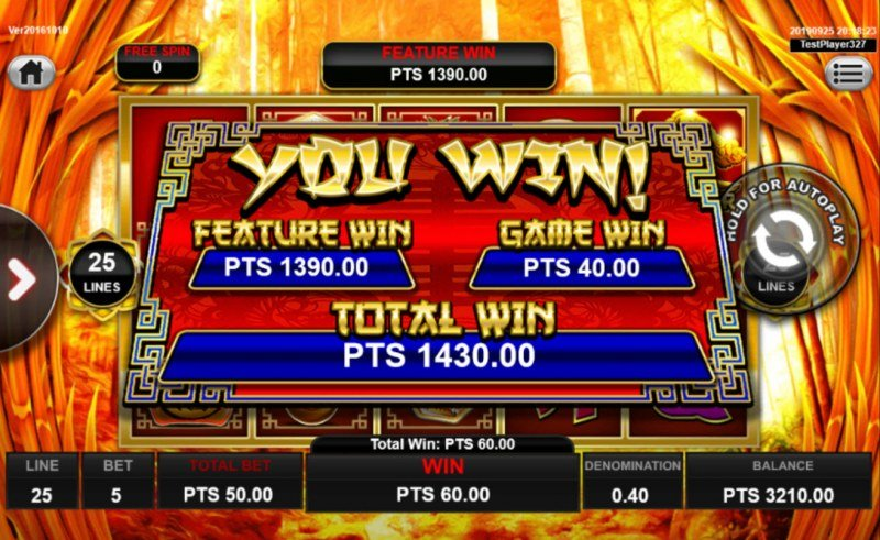 Wong Po :: Total free spins payout