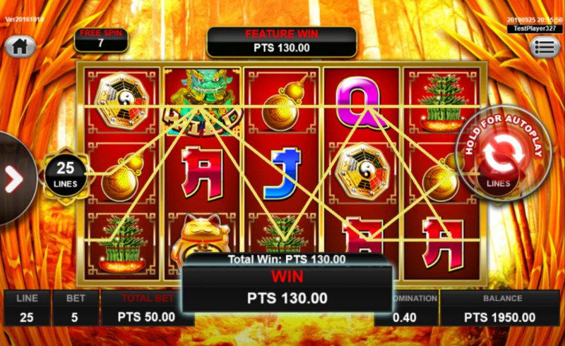 Wong Po :: Free Spins Game Board