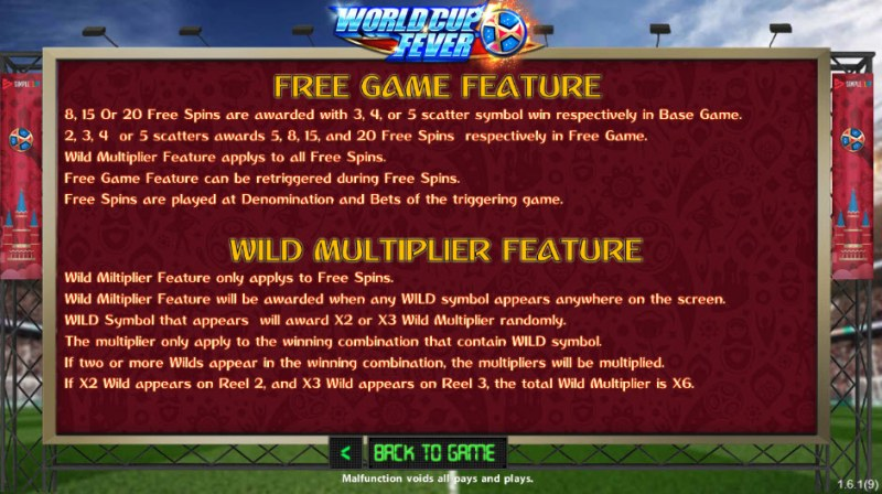 World Cup Fever :: Free Spins Rules
