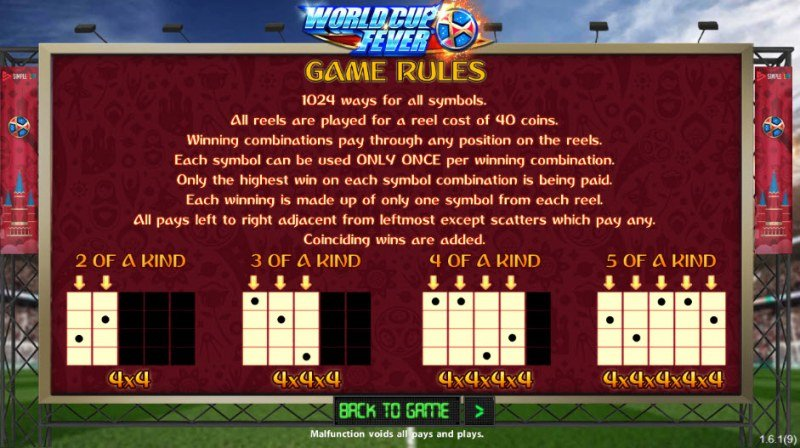 World Cup Fever :: General Game Rules